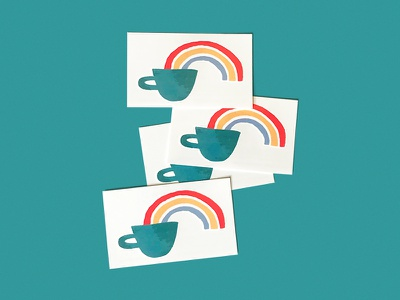Coffee Rainbow tattoo illustrator illustration rainbow coffee