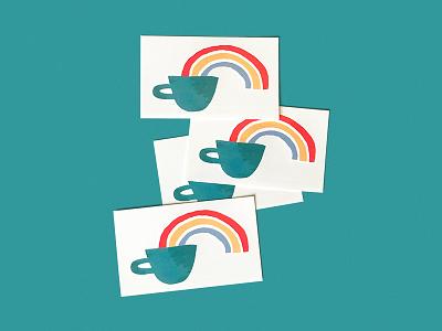 Coffee Rainbow tattoo illustrator illustration rainbow coffee