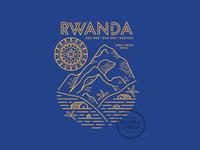 Rwanda starbucks sun hill typography illustration coffee rwanda