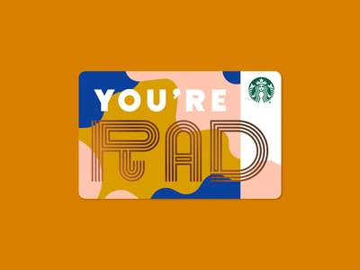 You're Rad typography design illustration coffee starbucks