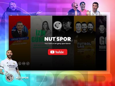 NUT SPOR - Turkish Youtube Channel Website branding logo ux ui adobe xd minimal ali.e.noghli parallex website web turkey futball basketball footbal sport sport website sportwebsite