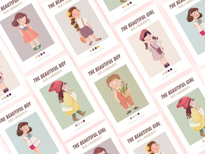 Character design ui illustration cut girl character art illustrations