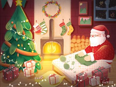 Merry Christmas cartoon christmas illustration character art illustartion