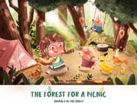The forest for a picnic 《two》