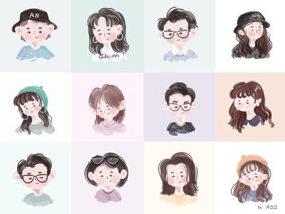 My friend(二) cut design cartoon illustartion