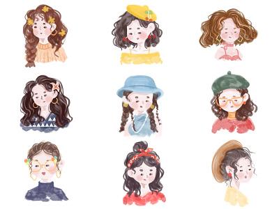 My friend(三) ui design character art illustartion