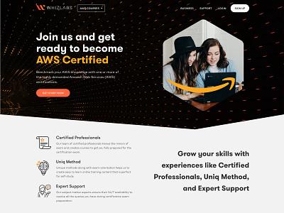 AWS for Whizlabs web design idea ui design website design brand ux minimal website digital design studio work