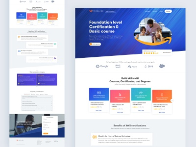 AWS for Whizlabs work digital branding designer portfolio studio crative uiux uidesign aws website ui desing