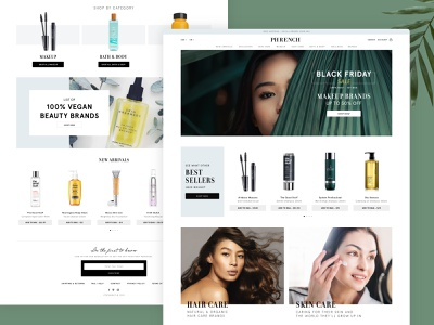 Phrench Beauty branding nature great work uiux uidesign shopify layout beauty website design