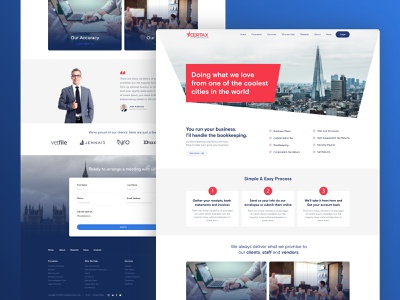 UI desinf for Certax London ux branding red clean blue london website uidesign work ui design ui