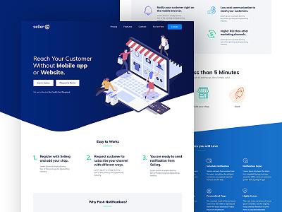 Sellerg - Landing Page webdesign studio bule ux ui project landing illustration colors clean