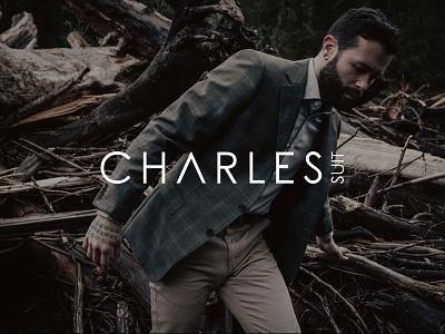 Charles Suit Logo black minimal suit custome store brand logo magento ecommerce
