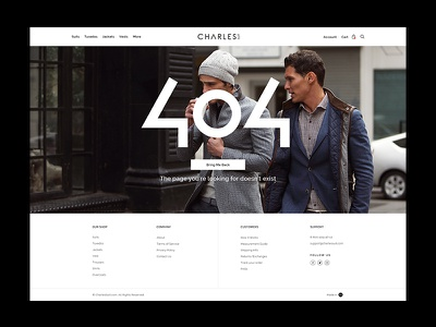 404 Page brand agency website store design ecommerce creative agency work ui  ux design magento 404 page