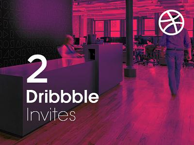 2 Dribbble Invitations play shots dribbble 2x members best giveaway draft invite invitations