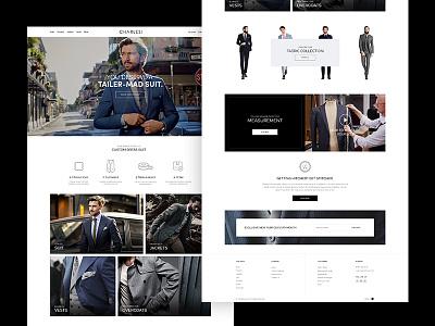 Charles Suit - Website Design store design ecommerce fashion store suits website minimal brand