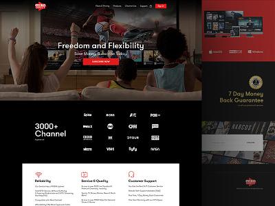 UI Design black studio ui  ux design website layout digital tv series live