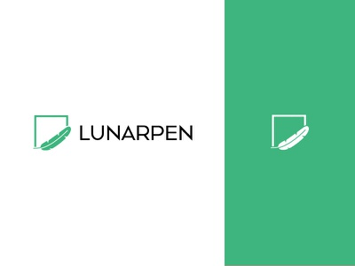 LunarPen minimal digital sign pen feather lunar brand work design logo