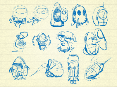 Escape Pods sketches ui icon