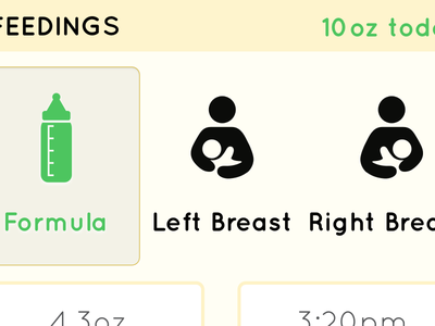 Feedings app ux ui ios