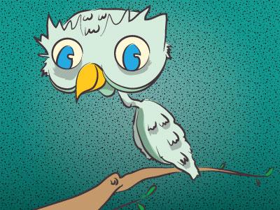 Happy Owl owl illustration characters illustrator