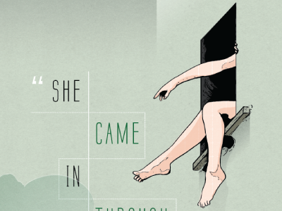 She Came In Through The Bathroom Window illustration poster print