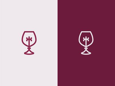 Wine & key logo medieval shop store restaurant dine winery line elegant glass wineglass key wine luxury modern logo minimalist branding