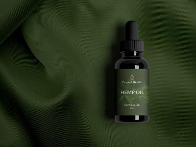 Oil dropper label label dropper medicine relief organic oil natural luxury hemp health healing harmony cbd calm elegant bottle packaging logo modern branding