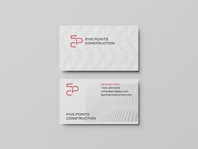 Construction management branding identity real estate property interior business card building innovative progressive structure monogram geometric architecture development elegant line modern logo branding management construction