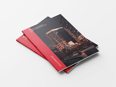 Construction management branding design brochure real property progressive monogram modern management logo line interior innovative identity geometric elegant development construction building branding architecture