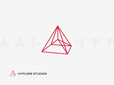 Geometric logo division connection 3d polygonal geometric pyramid algorithm dynamic minimalist abstract hyper virtual futuristic line logo branding render visualization architecture processing