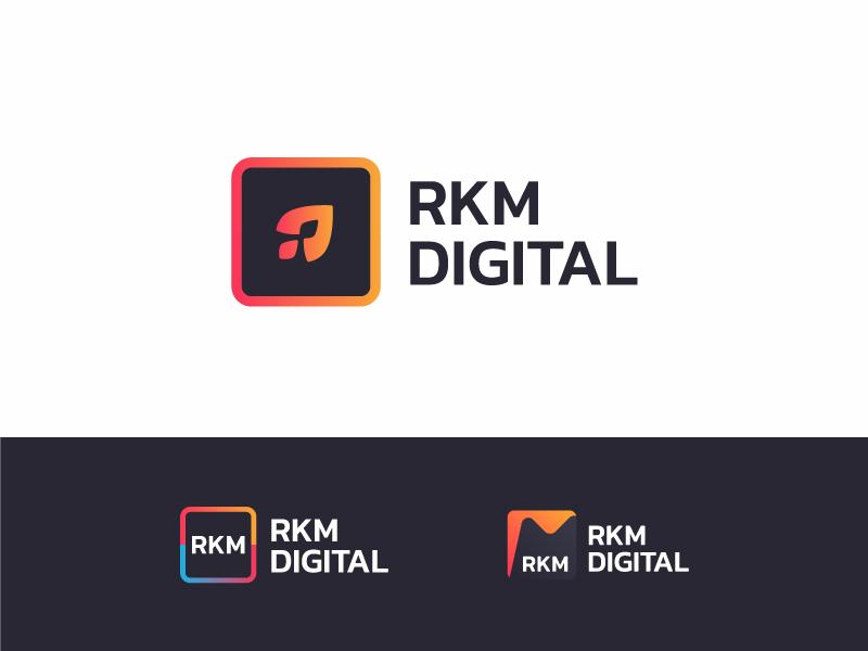 Digital marketing logo design by Paul Rover on Dribbble
