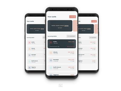 Card Management flat designs animation ui app design ux adobexd