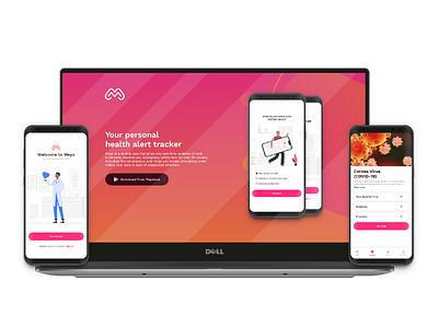 Meyo App designs website landing page app design ui ux adobexd