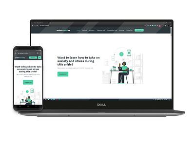 Project COVID designs website app landing page ui ux design adobexd