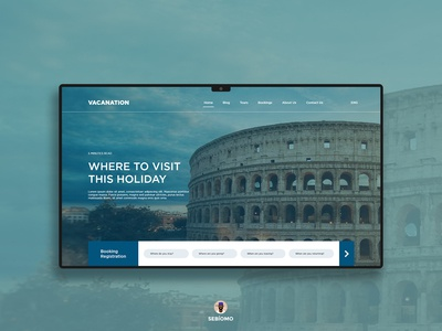 Vacation Website Landing Page