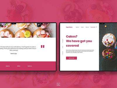 Cake Website UI Design website app landing page ui ux adobexd