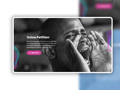 Speak Your Mind Campaign website designs landing page design ui ux adobexd
