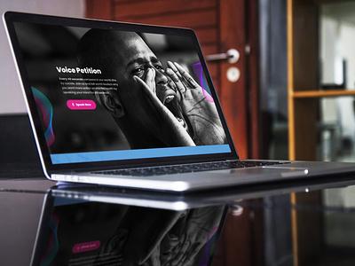 Speak Your Mind Campaign flat website designs landing page design ux ui adobexd