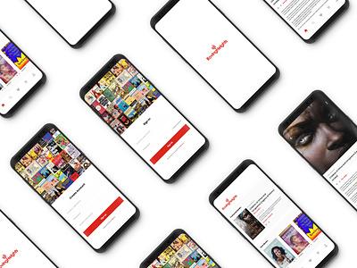 App Design Concept for RovingHeight (An Online bookstore) bookstore flat app design ui ux adobexd