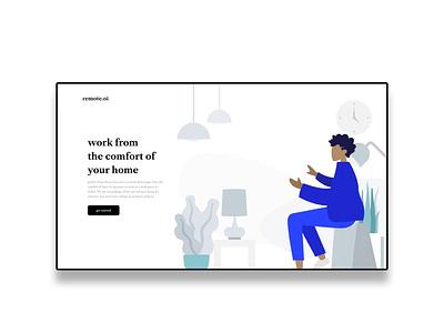 Website header designed with Adobe XD humaaans illustraion animation flat app website landing page dribbble ui ux design adobexd