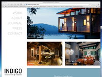 Website for Indigo Architecture & Interiors