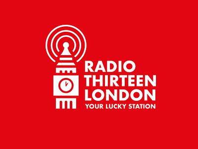 logo radio london lettering flat illustrator design type vector logo typography icon branding
