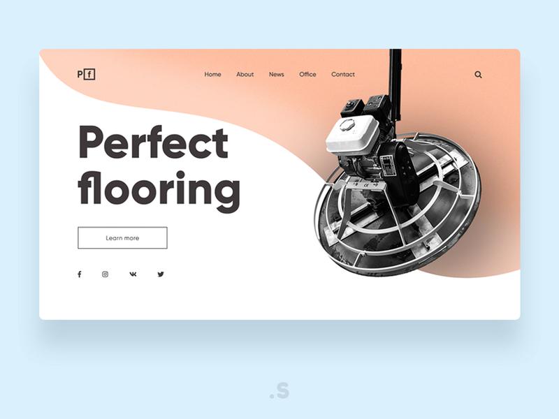 Repair flooring company concept welcome page website webdesign webdesigner web ux ui landingpage design branding app