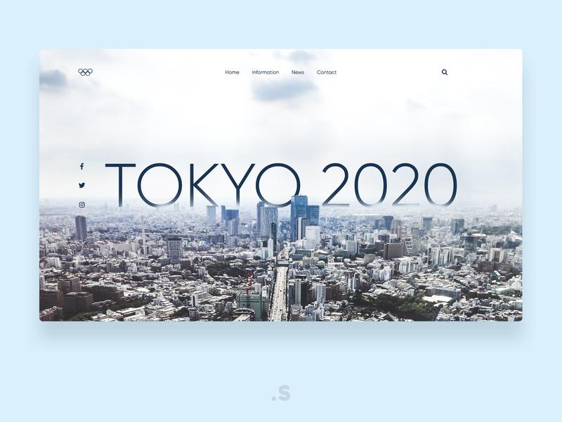 Tokyo 2020   concept welcome page website webdesign webdesigner web ux ui landingpage design branding app