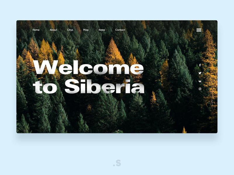 Welcome to Siberia concept welcome page website webdesign webdesigner web ux ui landingpage design branding app