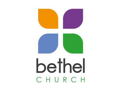 Bethel Church Logo negative space mark multi-color logo cross church bethel