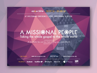 Centenary Conference Poster for AblazeUK 2016  apostolic church arrow convention church ablaze polygon poster conference