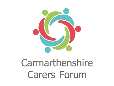 Carmarthenshire Carers Forum Logo mark icon hugging linked people logo carers