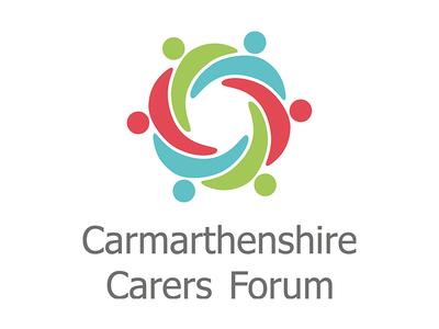 Carmarthenshire Carers Forum Logo mark icon hugging linked people logo carers