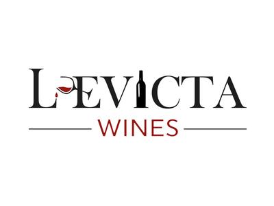 Levicta Wines Logo logo glass wine
